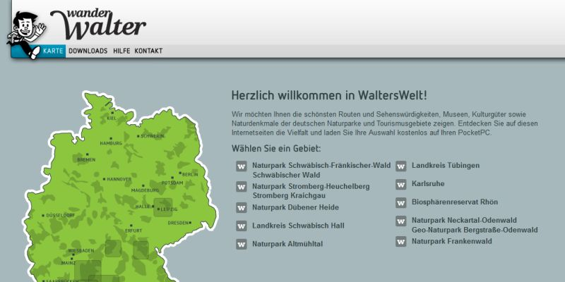 Screenshot Wanderwalter